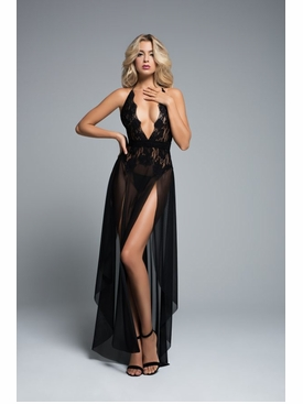 Adore A1061 Le Reve Black Nightdress