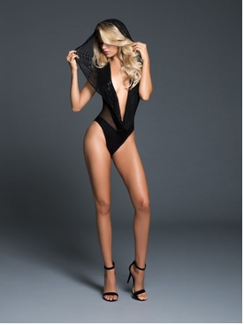 Adore A1062 Dare To Imagine Sequins Bodysuit With Hoodie