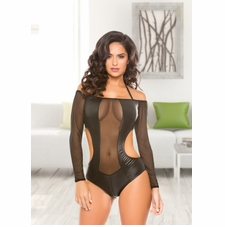 Allure 10-2202 Wetlook & Mesh Romper