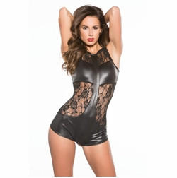 Allure 10-3602K Lace & Wet Look Jumper