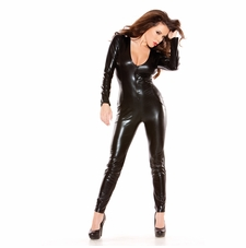 Allure 10-5502K Sexy Kitten Wet Look Catsuit
