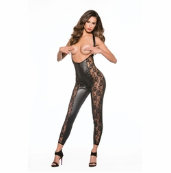 Allure 10-5602K Lace & Wet Look Catsuit