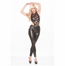 Allure 10-9602K Kitten Lace Wet Look Catsuit