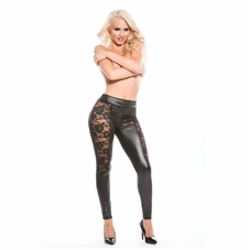 Allure 16-4602K Kitten Lace Wet Look Leggings