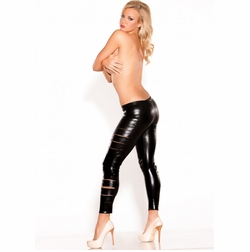 Allure 16-7902K Wet Look Side Slashed Leggings
