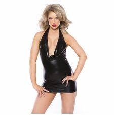 Allure 17-1062K Wet Look  Alluring Kitten Dress