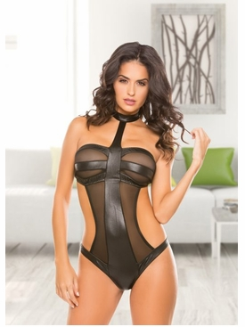 Allure 4-2202 Wetlook & Mesh Teddy