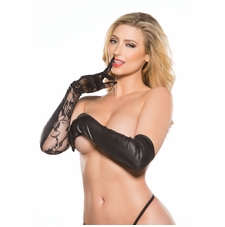 Allure G-5002K Sexy Lace and Vinyl Gloves