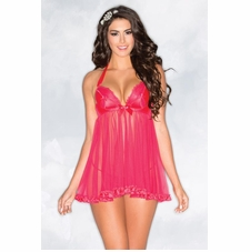 Babydoll With Satin Cups And Ruffle Trim