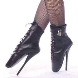 Pleaser Ballet-1025 Spiked Ankle Boot