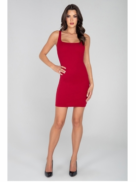 Basic Above The Knee Ribbed  Dress