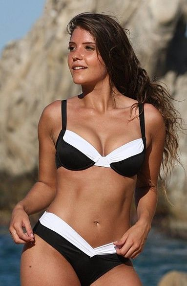Ujena Black and White Calypso Underwire Bikini Bathing Suit