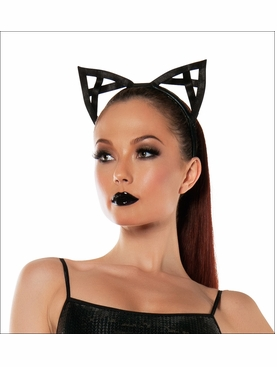 Black Kitty Bendable Ears Headband