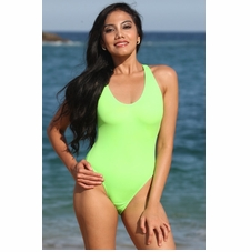 California Lime One-Piece Bathing Suit