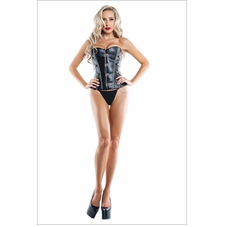 Can't Be Tamed Faux Leather Corset