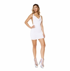 Cowl Neck Mini Dress with Low Back Detail