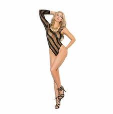 Elegant Moments 1359 Crotchless Sheer Burnout Teddy