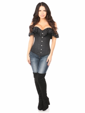 Daisy Corsets Black Cotton Off-The-Shoulder Corset