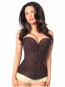 Daisy Corset LV-142 Dark Brown Lace Overbust Corset