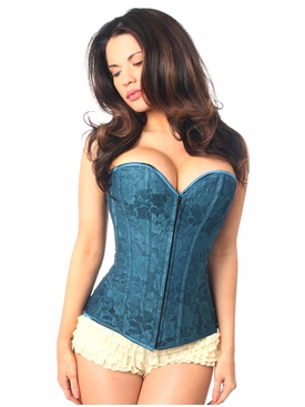 Daisy Corsets LV-145 Dark Teal Lace Overbust Corset