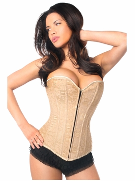 Daisy Corsets LV-167 Dark Beige Lace Overbust Corset