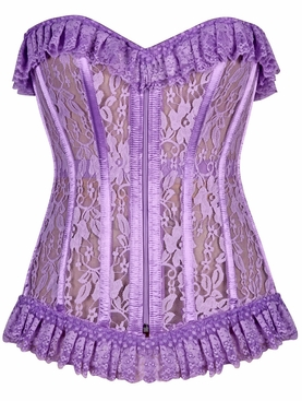 Daisy Corset LV-302 Lilac Sheer Lace Corset