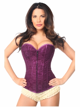 Daisy Corset LV-72 Magenta Lace Overbust Corset
