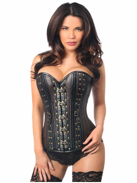 Daisy Corsets TD-043 Faux Leather Steel Boned Corset