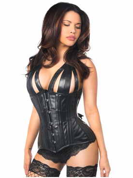 Daisy Corsets TD-317 Faux Leather Steel Boned Underbust Corset