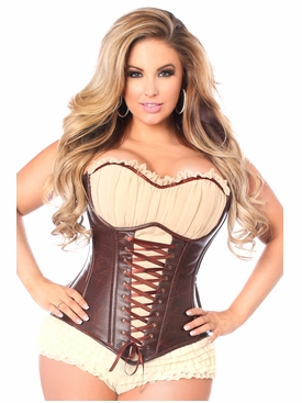 Daisy Corsets TD-499 Faux Leather Steel Boned Ren Faire Corset