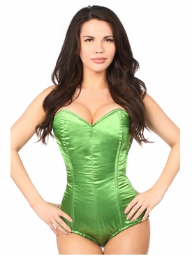 Daisy Corsets LV-400 Green Satin Corset Romper Size X-Large