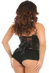 Daisy Corsets Faux Leather Underwire Bustier