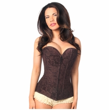 Daisy LV-142 Dark Brown Lace Overbust Corset