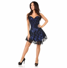 Daisy Corset LV-340 Black/ Blue Lace Corset Dress