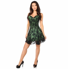 Daisy Corset LV-341 Black/Green Lace Corset Dress