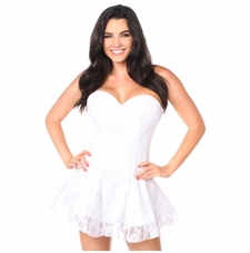 Daisy LV-35 White Lace Corset Dress