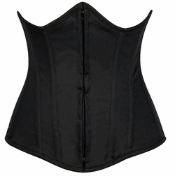 Daisy LV-597 Black Cotton Underbust Corset