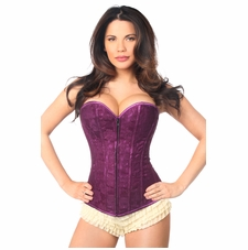 Daisy LV-72 Magenta Lace Overbust Corset