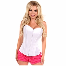 Daisy LV-73 White Sweetheart Front Zipper Corset