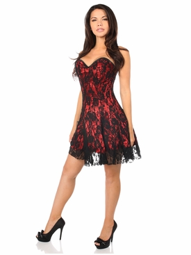 Daisy Corsets Red Lace Corset Dress