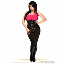 Daisy Corset TD-016T Steel Boned Faux Leather Underbust Corset