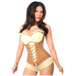 Daisy TD-042 Faux Leather Steel Boned Ren Faire Corset