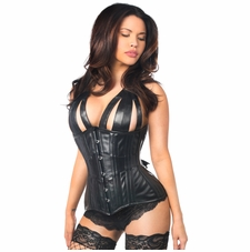 Daisy TD-317 Faux Leather Steel Boned Underbust Corset