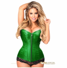 Daisy TD-805 Emerald Green Brocade Steel Boned Corset