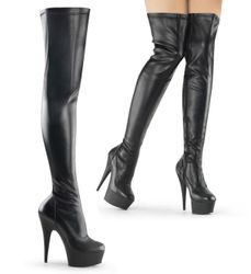 Pleaser Delight-3000 Exotic Dancer Thigh High Boots