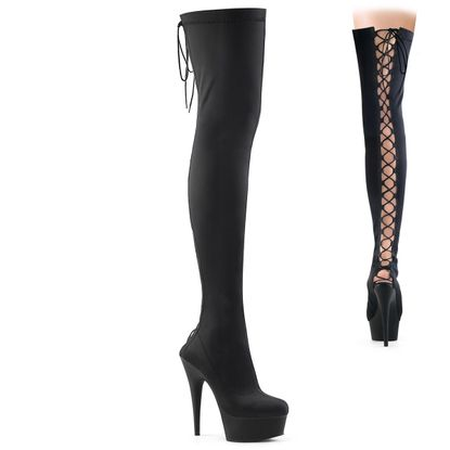 Pleaser Delight-3003 Stretch Thigh High Boot