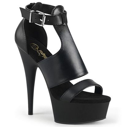 Pleaser Delight-692 Close Back Sandal w/ Buckle Ankle Strap