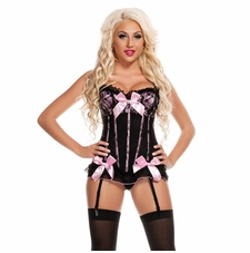 Dream Corset W/Colored Ribbon & Bows