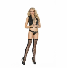 Elegant Moments 1106 Zig Zag Net Thigh Hi