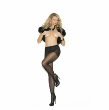 Elegant Moments 1134 Pantyhose With Lace Back Seam